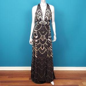ASOS 1920'S Art Deco Sequin Maxi Dress / (NWT)